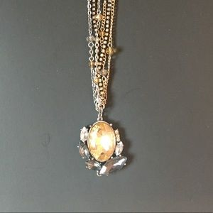 Long Jewel Pendant Necklace
